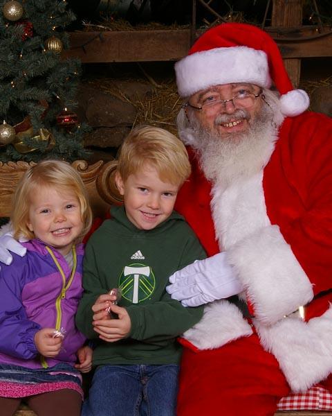 Santa on the Farm at Christmas
